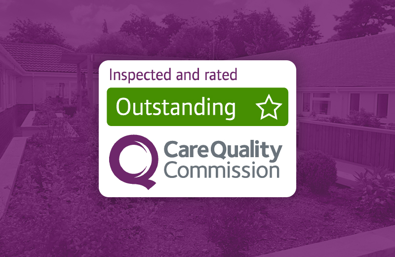 "It's official. Downs View Care Home in Swindon is ""Outstanding""."